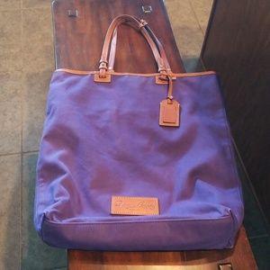 Dooney & Bourke Purple Canvas Book Bag